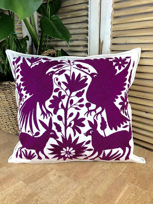 Otomi cushion cover - Purple