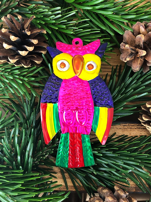 Owl - Christmas Tree Tin ornament