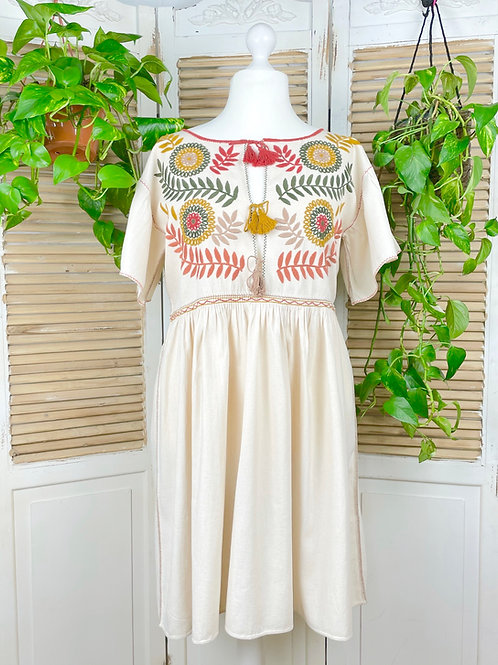 """Margarita dress open """"Earth"""" -  Extra Large size"""