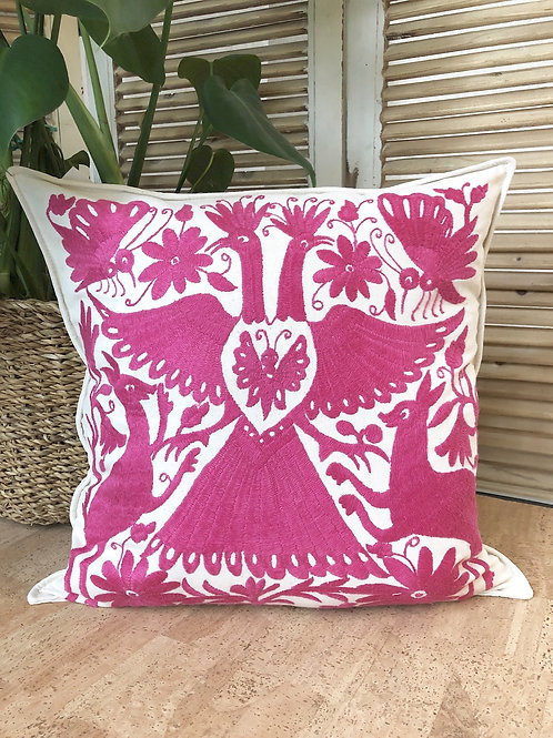 Otomi cushion cover - Pink