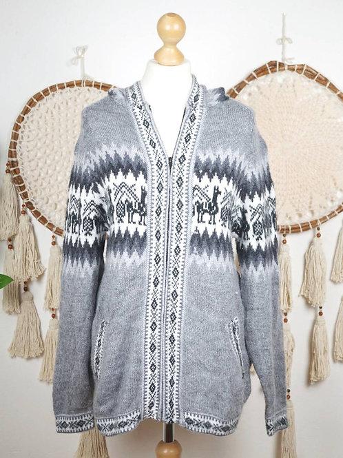 Unisex Alpaca sweater grey