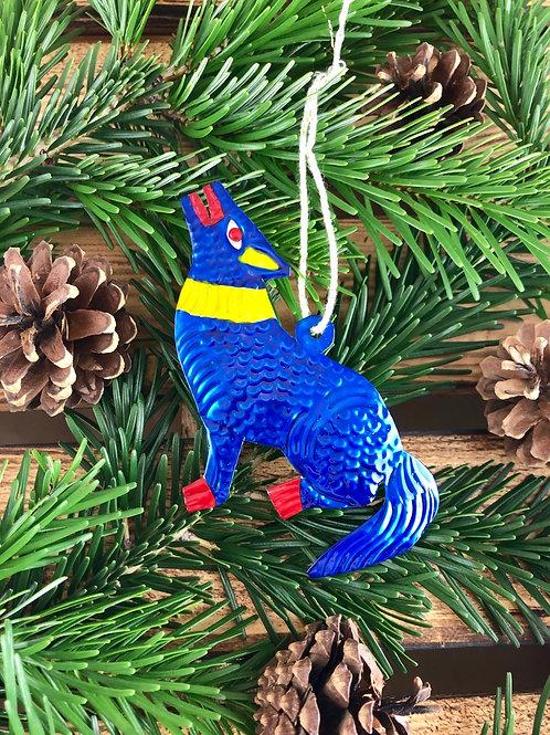 Coyote - Christmas Tree Tin ornament