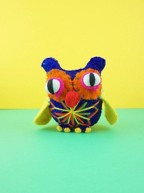 Handmade wool owl - Small