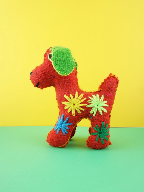 Handmade wool dog