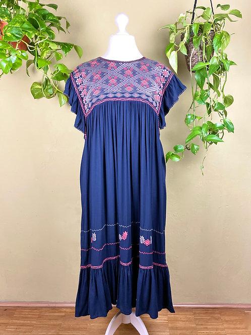 Midi dress Andrea - Navy blue II - L/XL