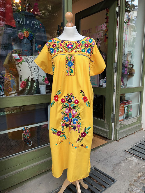 Yellow Puebla dress - Medium