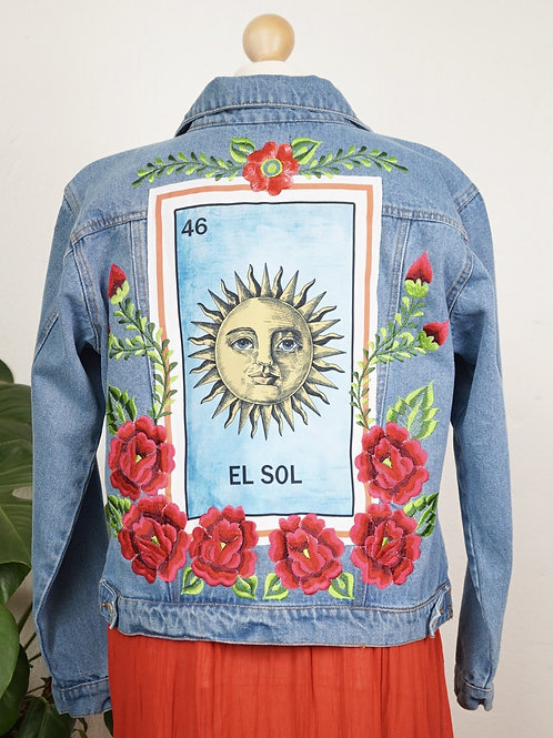 Jeans Jacket - El Sol size 36 / Light blue