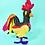 Thumbnail: Handmade wool rooster