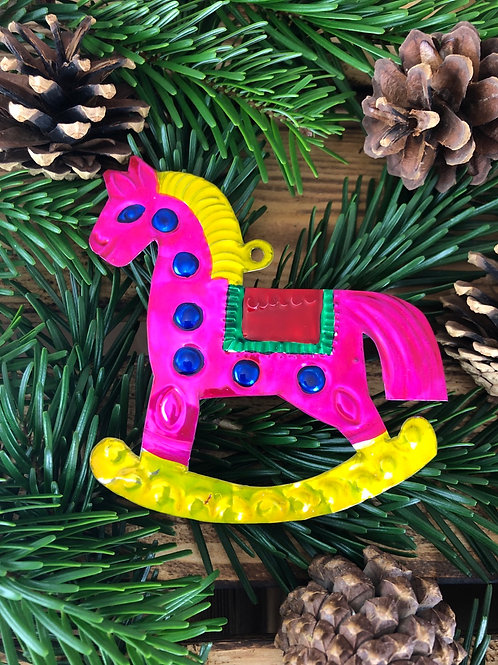 Rocking Horse - Christmas Tree Tin ornament