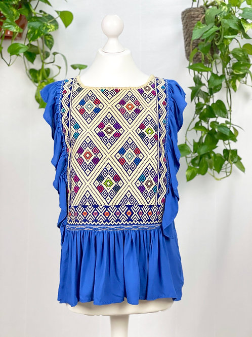 Lidia blouse royal blue - Medium