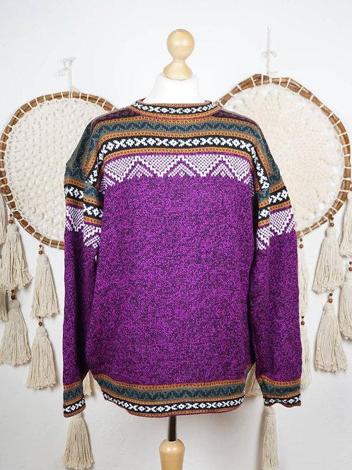 Unisex Alpaca pullover magenta