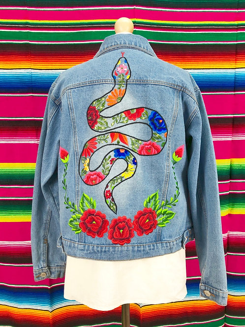 Denim Jacket - Flowers Snake size 38