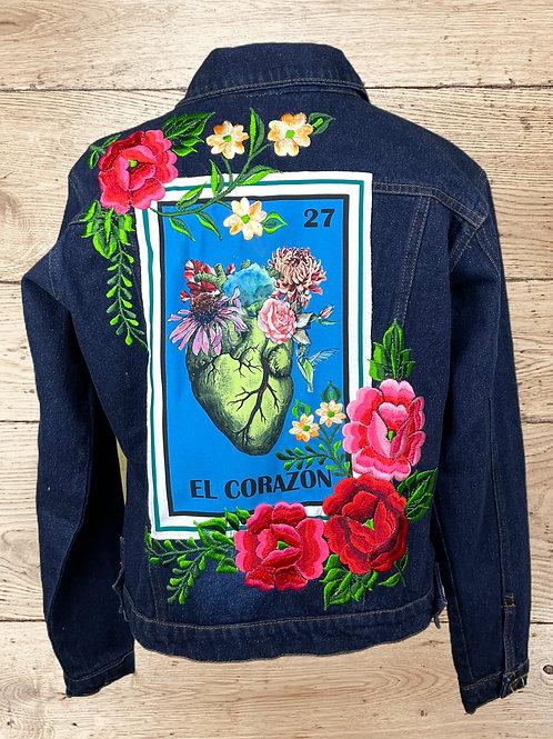 Jeans Jacket -  El Corazon size 36 - Dark denim