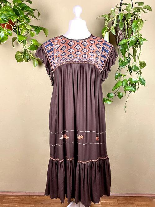 Midi dress Andrea - Chocolate - L/XL