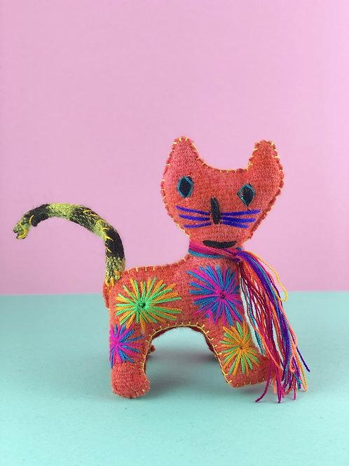 Handmade wool cat