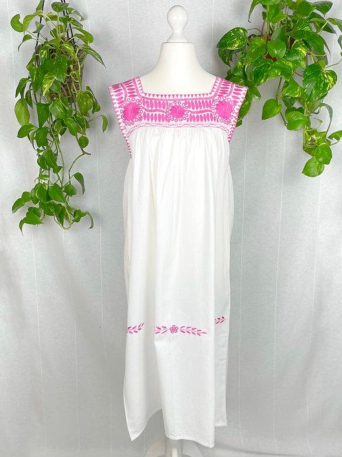 Aguacatenango dress - Rosa embroidery