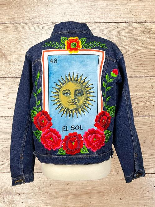 Jeans Jacket - El Sol size 38 - Dark denim