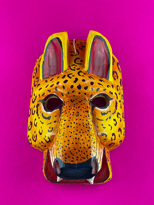 Wooden mask - Jaguar