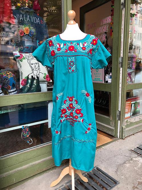 Teal Puebla dress - L/XL