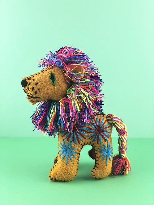 Handmade wool Lion