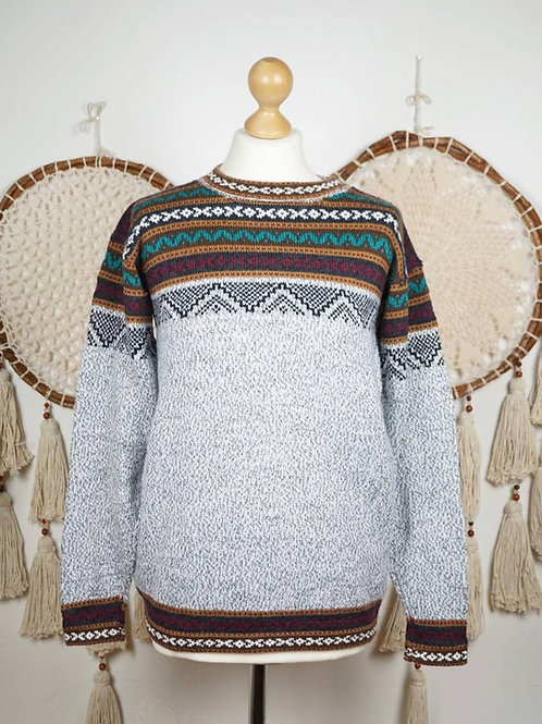 Unisex Alpaca pullover light grey