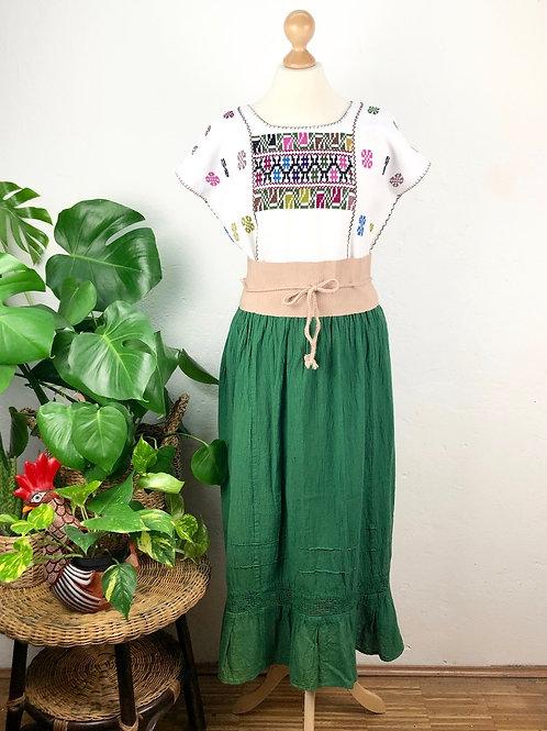 Quadrille blouse and gauze skirt - Geraniums