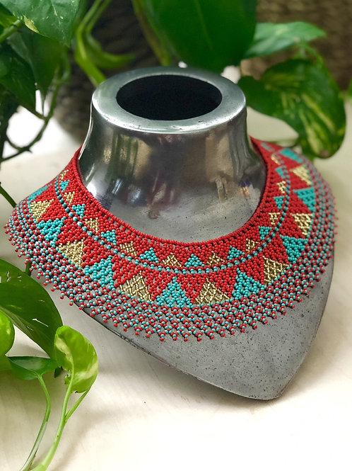 Beaded Huichol necklace - Yatzil