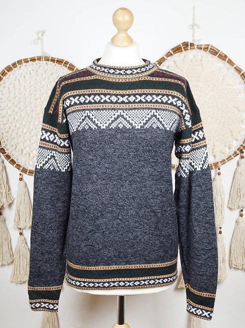 Unisex Alpaca pullover grey