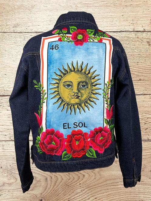Jeans Jacket -  El Sol size 36 - Dark denim