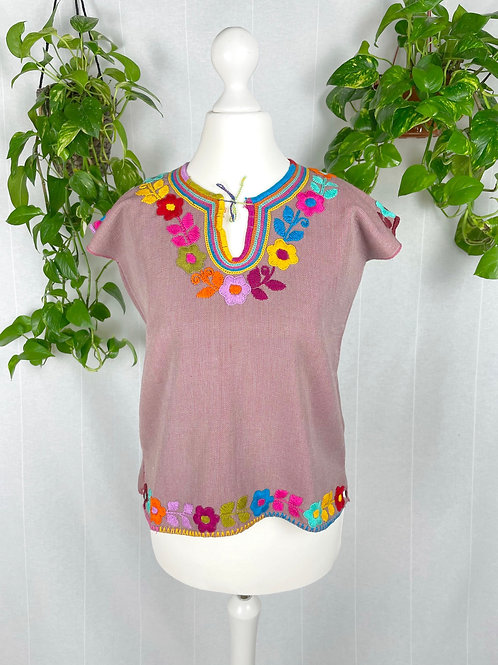 Dominga woven blouse - Old pink