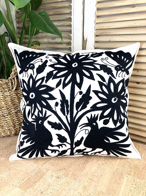 Otomi cushion cover - Black