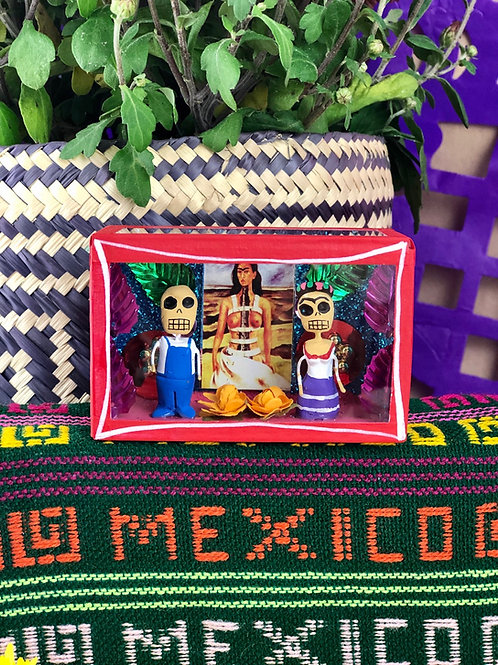 Frida and Diego Mini Calavera Box