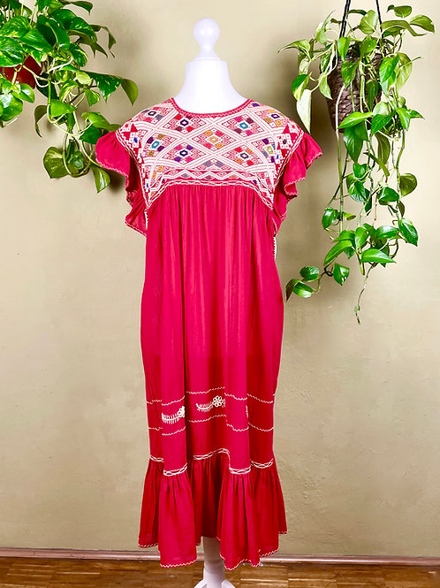 Midi dress Andrea - Red - M/L