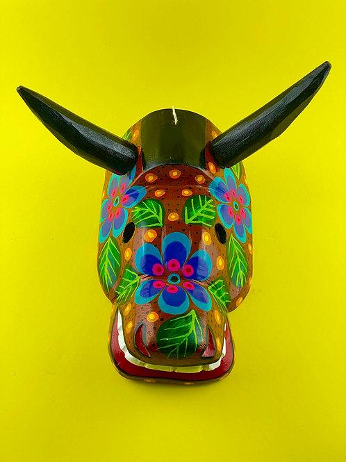 Wooden mask - Bull