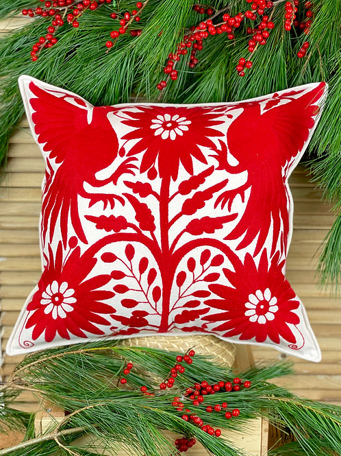 Otomi cushion cover - Red