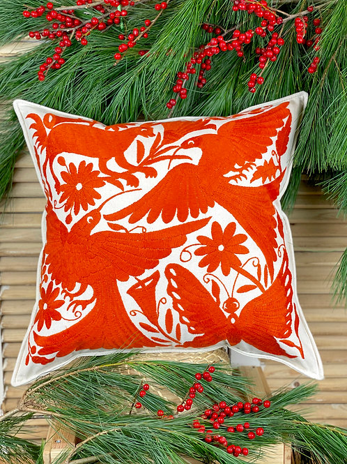 Otomi cushion cover - Orange