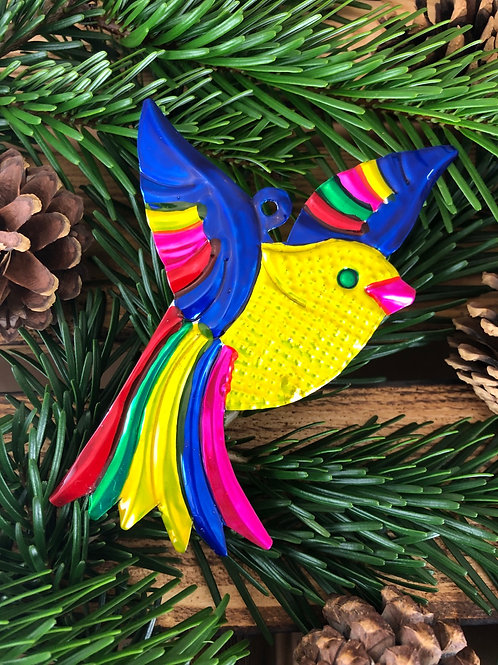 Canary - Christmas Tree Tin ornament