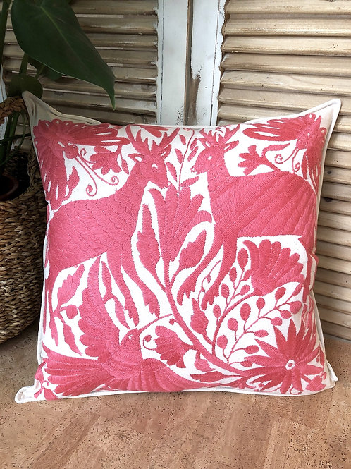 Otomi cushion cover - Coral pink