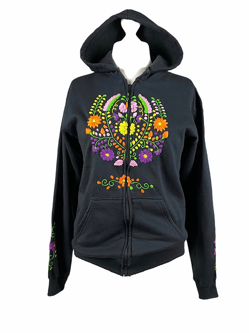 Tehuacan Hoodie with zipper - Large