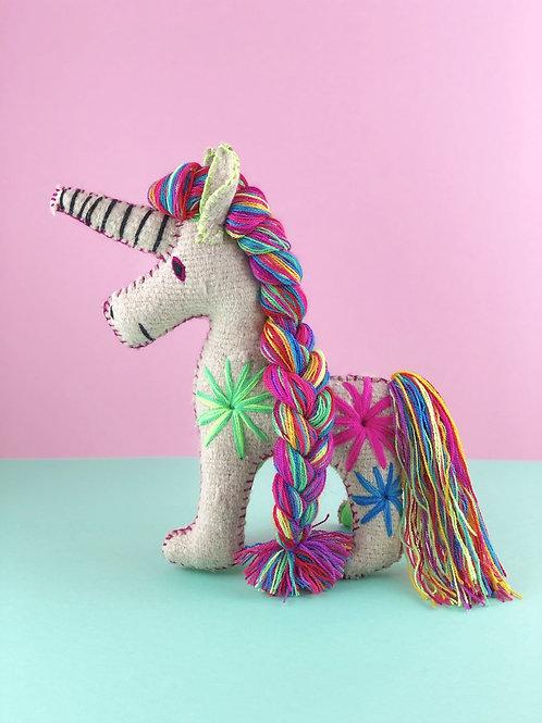 Handmade wool unicorn