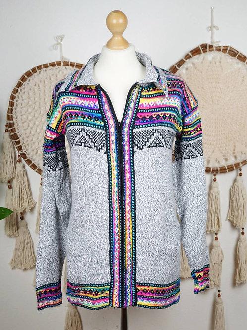 Unisex Alpaca sweater multicolor grey