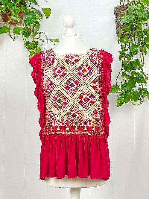 Lidia blouse red - Medium