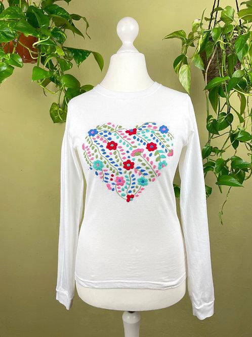 Tehuacan heart long sleeve t-shirt / Small size