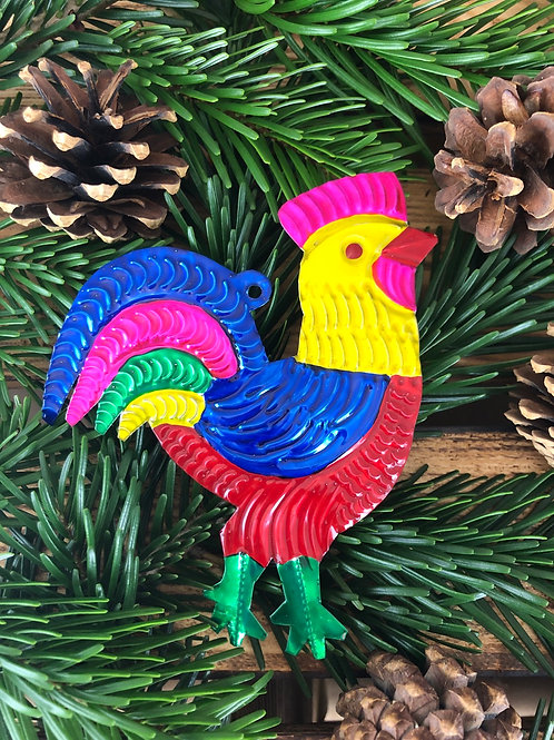 Rooster - Christmas Tree Tin ornament