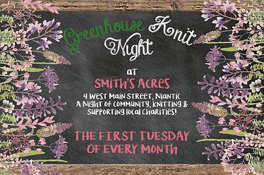 Greenhouse Knit Night, Twist Yarn Shoppe