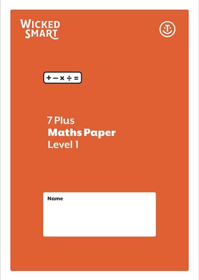 7+ Maths paper Level 1