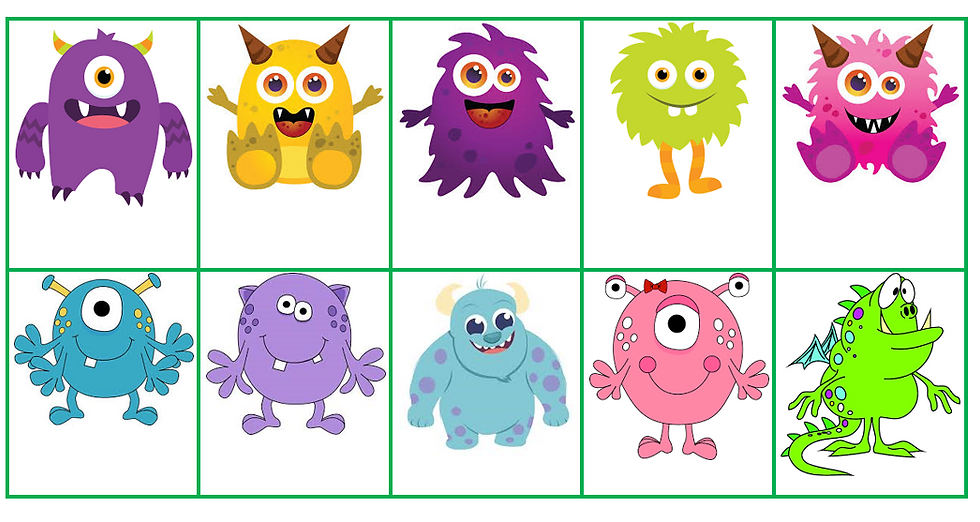 """""""Guess my monster"""" adjective and description game"""