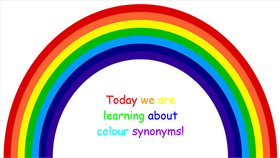 Colour synonyms pack