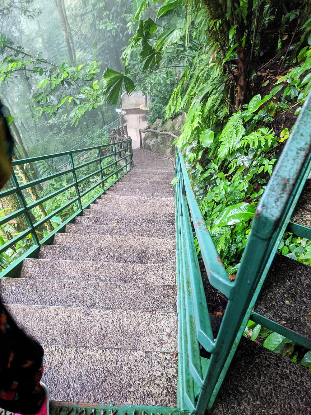 La Fortuna Waterfall Trail of 500 stairs