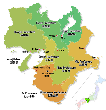 Map of Kansai